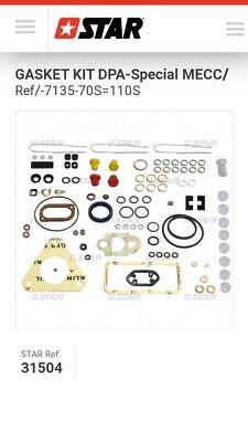 Delphilucas Cav Dpa Gasket Kit 7135-70s7135-110s Special Fordperkins