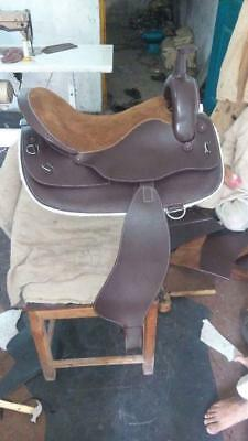 Beautiful Antique Design Brown Western Style genuine Leather Horse Saddles