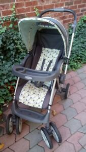 Graco stroller- brown