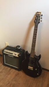 Ibanez guitar and Crate amp