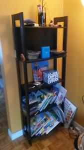 Bibliothèque 5 étagères brun foncé