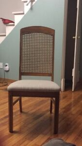 REAL OAK DINING ROOM CHAIRS