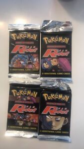 Pokemon - 4 X Team Rocket Sealed Booster Pack Card