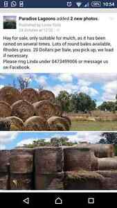 Mulch,  hay round bales for sale Alton Downs Rockhampton Surrounds Preview