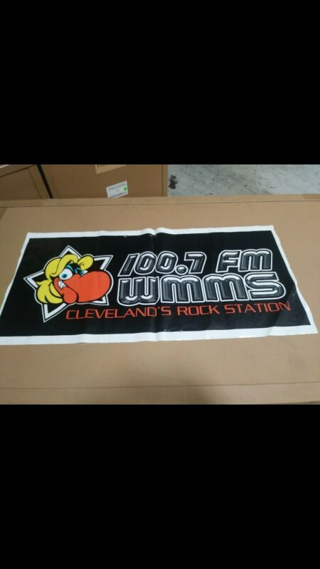 WMMS 100.7 Cleveland Radio Lot Of 4 Plastic Banners