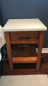 2 Solid wood hand built night stands
