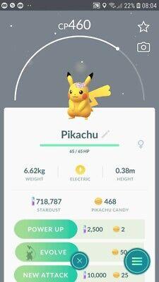 Pikachu ( Flower Crown ) Trade Pokemon GO](Flower Game)