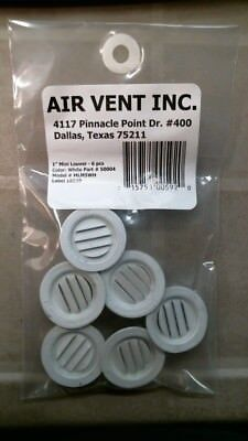 "Air Vent #400 Aluminum 1"" Mini Louver, 6pk, FREE SHIPPING"
