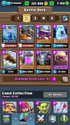 Clash Royale   Android   Lvl 12   83 83 Cards   4600    260K  Gold   2 200  Gems
