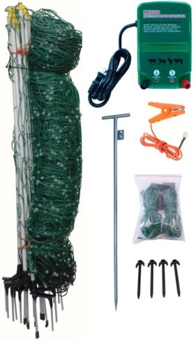 All-Purpose Electric Netting Kit for Gardens, Goats, Ducks, Geese, and Much More