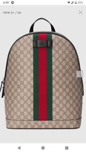 Brand New Authentic Gucci Backpack with Receipts  and Authentic
