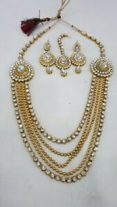 Indian pakistani Gyny ladies fake jewellery bridal necklace