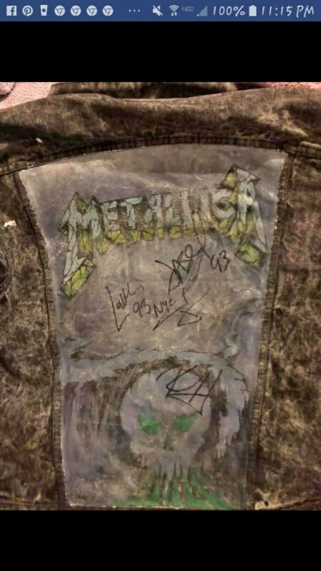 METALLICA AUTOGRAPHED DENIM JACKET
