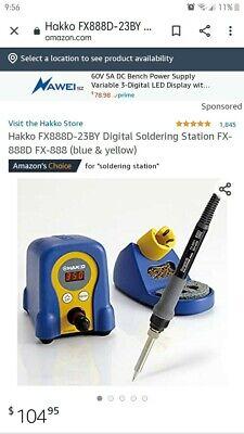 Hakko Fx888d-23by Digital Soldering Station