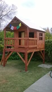 Kids cubbys forts tree houses play equipment