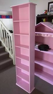 Pink wooden shelving unit. shelf furniture for girls room Ashmore Gold Coast City Preview
