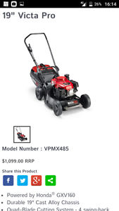 Victa pro lawn mower (ON HOLD) North Melbourne Melbourne City Preview