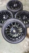 4x 225/45R17 tyres with multifits black rims 4 studs Virginia Brisbane North East Preview