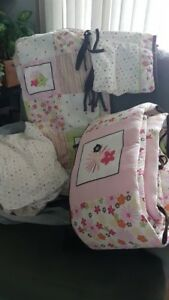 Bumper pads ,sheets and comforter
