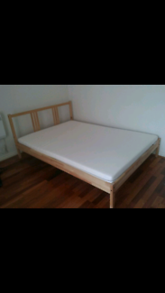 Ikea Double Bed and Mattress (4 months old )
