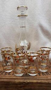 Vintage ROMANIAN GLASS Wine DECANTER & GLASSES Gawler Gawler Area Preview