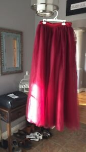 Burgundy/wine coloured tulle skirt