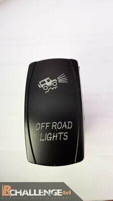 Incorporato Barra Luce LED Rocker Interruttore Off Road Luci Retro Lit Verde Ce comprar usado  Enviando para Brazil