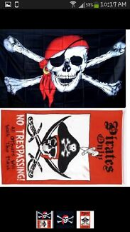 Size 1 pirate costume, pirate flags and party supplies Warnbro Rockingham Area Preview