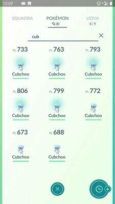 Cubchoo ULTRA RARE Pokemon Go