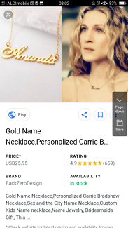 Missing 'Nellie' necklace