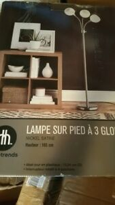 Brand New Home Trend 3 Light Globe Floor Lamp.