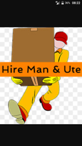 24/7 man and Ute hire delivery rubbish removals