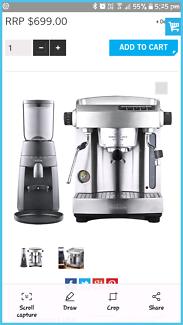 Sunbeam Cafe Series Espresso Machine and Grinder