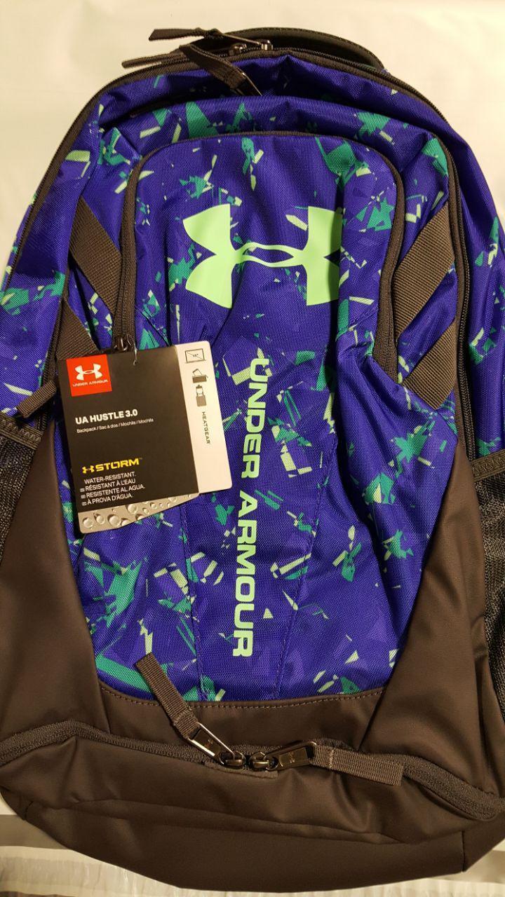 "Under Armour UA 1294720 Storm Hustle 3.0 Backpack 15"" Water-Resist Laptop Bag"