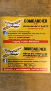 over 150 bombardier skidoo part out