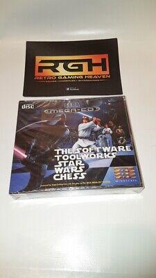 STAR WARS CHESS SEGA MEGA CD GAME NEW FACTORY SEALED + SPINE...