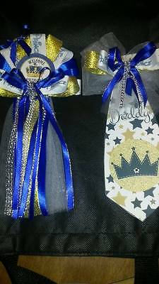 Mommy Baby shower corsage & Prince Tie for Daddy To Be welcome (Mommy To Be Corsage For Baby Shower)