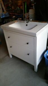 IKEA Sink cabinet with 2 drawers include Faucet.