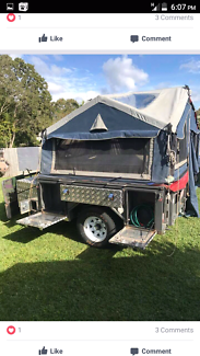 Family camping trailer