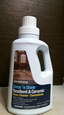 Armstrong Once 'n Done Resilient & Ceramic Floor Cleaner Concentrate 32 oz. Resilient Floor Cleaner