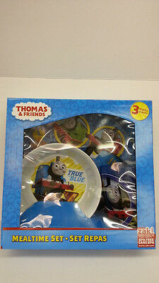 ZAK THOMAS AND FRIENDS THE TRAIN ENGINE KID 3 PIECES DINNERWARE SET BPA FREE NEW - Thomas The Train And Friends