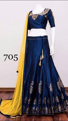 Indian Bollywood Designer Chaniya Choli With Gorgiouse Colour Combination 705