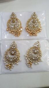 Indian pak jewellery long har earrings necklace payel nath