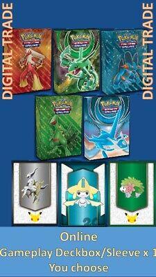 1 x Pokemon Gameplay Deck Box/Sleeve Digital - PTCGO Online - You choose