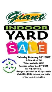 Yard Sale Today - Feb 18/17