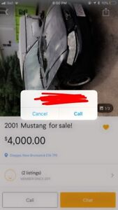 trade , for mustang 2001 185km