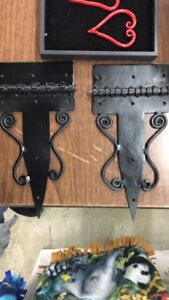 Hand forged gate hinges