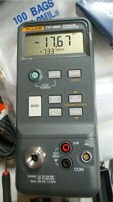 Fluke 717 100g Pressure Calibrator -12 To 100 Psi Free Shipping Unit 4