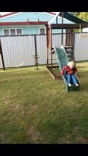 Wooden swing & slide set + trampoline AS IS Stafford Brisbane North West Preview