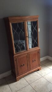 Beautiful Antique Maple China Cabinet